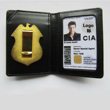 Movie Cosplay Mission Impossible II Ethan Hunt ID Card CIA Badge Holder Case