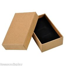 5PC New Tawny Kraft Paper Gift Box Earrings Rings Pendant Necklace Jewelry Box