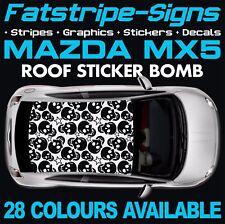 MAZDA MX5 ROOF STICKER BOMB GRAPHICS STICKERS DECALS CAR VINYL ROADSTER 1.6 1.8