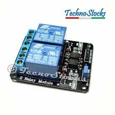Modulo 2 Relè 12V Carichi fino 250V 10A - Relay Module Arduino PIC ARM Atmel