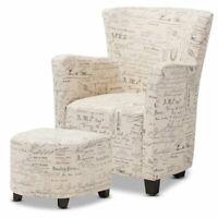 Baxton Studio Dorais Transitional Beige Fabric Upholstered