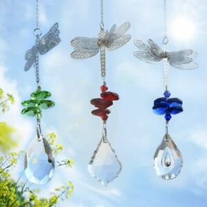 Dragonfly Pendant Home Deco Clear Crystal Maple Leaf Pendant Lighting Ball Metal