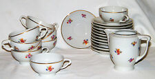 Marked Vintage CMIELOW CHINA Poland Porcelain DEMITASSE SET Cups/Saucers/Creamer