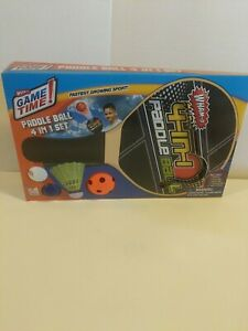 WHAM-O GAME TIME! PADDLE BALL 4 IN 1 SET SUMMER FUN