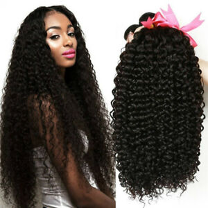 10A Virgin Brazilian Kinky Curly Human Hair Extensions 300g 3 Bundles Hair Weave
