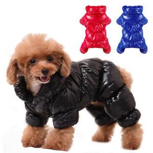 Dog Waterproof Jumpsuit Winter Coat Small Medium Pet Clothes Fleece Lined Jacket