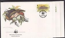 v1862 Jamaika/ WWF 1984 Schlangen  MiNr 591/94 I auf 4 FDC