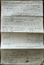 More details for court of norwich, england, uk antique annuity receipt. stamps and taxes 1840