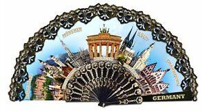 Germany Fan Munich Berlin Cologne Frankfurt Neuschwanstein 17 11/16in