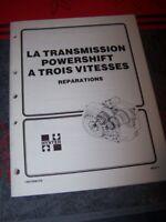 GB Manuel Hyster Transmission Powershift 3 vitesse H17.00-32.00C H20.00-32.00F