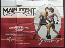 THE MAIN EVENT ORIGINAL CINEMA 1979 QUAD POSTER BARBRA STREISAND RYAN O'NEAL