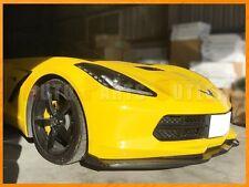 Stage 2 Carbon Fiber Front Bumper Lip w/ Winglets For 14-17 Corvette C7 Stingary