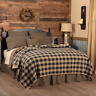 BLACK CHECK QUILTED coverlet -choose size & accessories-Primitive VHC Brands