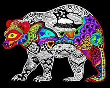 Bear - Large 16x20 Inch Fuzzy Velvet Coloring Poster