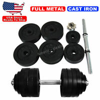 50lb Dumbbell Adjustable Weight Set Fitness GYM Home Cast Full Iron Dumbbell