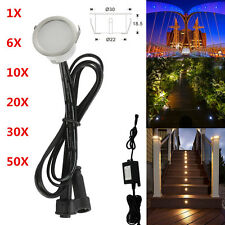 12V 31mm 0.6W IP67 Outdoor Garden Yard Patio Stair Path Recessed LED Deck Lights