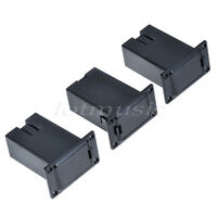 3 Pcs Black 9V Battery Holder Case Box Compartment Cover Case Guitar Bass Pickup