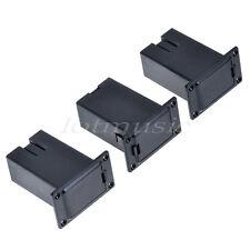 3 Pcs Black 9V Battery Holder Case Box Compartment Cover Case Guitar Bass Pickup