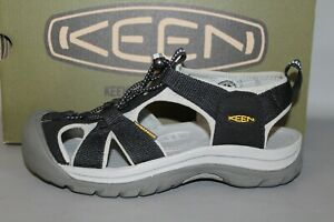 Women's KEEN Venice H2 Black/Neutral Gray Size 8.5 Medium, Comfortable Sandals