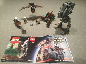 LEGO Star Wars Endor lot: Ewok Attack (7139) and AT-ST (7127) - 100% Complete