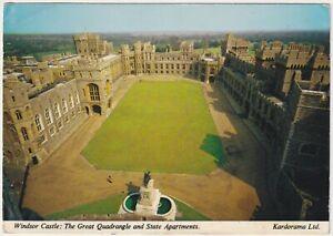 The Great Quadrangle & State Apartments, Windsor Castle - Vintage Postcard
