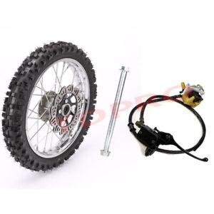 "14"" Front Wheel Rim 60/100-14 Tire + Caliper + Axle for Pit Dirt Bike CRF50 70"