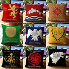 Game Of Thrones Sigils Housse de coussin carré taile oreiller jeté étui