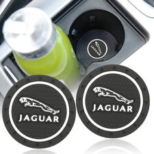 2x Car Silicone Cup Bottle Holder Pad Mat Coaster Anti-Slip Emblem Fit Jaguar