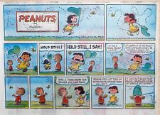 Peanuts by Charles Schulz - large half-page color Sunday comic - May 12, 1963