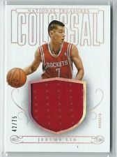 JEREMY LIN 2013-14 PANINI NATIONAL TREASURES COLOSSAL JERSEY #/75 ROCKETS