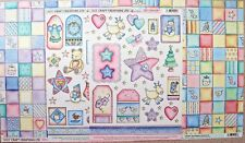 """3 x 12"""" Sq Christmas Patchwork Backing Paper + 2 x A4 Collage Sheets NEW"""