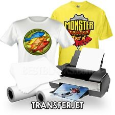 InkJet Iron-On Heat Transfer Paper - For Lights (50) TransferJet TJ-8