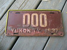 1937 37 YUKON TERRITORIES CANADA SAMPLE LICENSE PLATE NICE TAG BY IT NOW