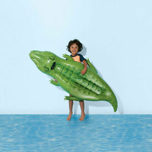 Inflatable Croc Rider Add A Splash Of Fun To Your Little One's Backyard Play T