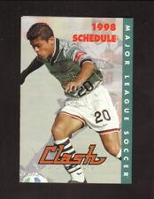 San Jose Clash--Ronald Cerritos--1998 Pocket Schedule--Benihana--MLS