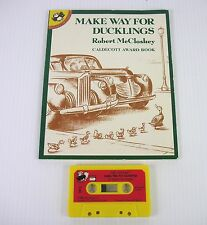 Vintage Make Way for Ducklings Book Cassette Tape Robert McCloskey DayCare Kids