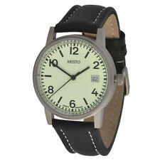 Aristo submarino 3h27g unisex reloj de pulsera cuarzo 10atm pulsera de cuero swiss Movement