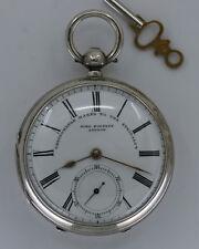 Antique Sterling John Forrest London Mint Dial Fusee Pocket Watch - No Reserve