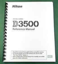 Nikon D3500 Reference / Instruction Manual: 344 Pages & Protective Covers