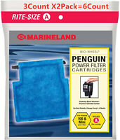 Marineland Penguin Rite Size A Power Filter Cartridges 3Count (2Pack)