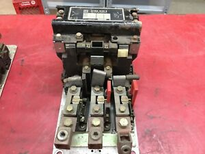 USED SQUARE D SIZE 5 3POLE 480VAC COIL 600VAC MAX STARTER 8536-SG01
