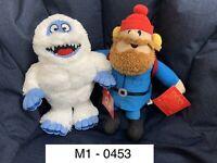 NWT Rudolph Toy Factory Bumble Abominable Snowman, Yukon Conrelius Plush Set