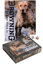 """Browning Arms """"Dirty Work"""" Jigsaw Puzzle 550 pieces Lab Hunting Dog 18x24"""