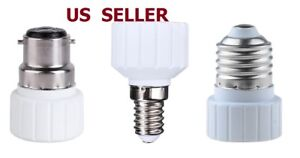 4PCS E14/E27/B22 To GU10 Base Socket Adapter Converter For LED Light Lamp Bulb