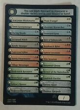 Checklist 1 x20 & Checklist 2 x5 - MTG - Shadows over Innistrad