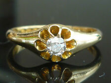 Solitaire Excellent Cut Yellow Gold VVS1 Fine Diamond Rings