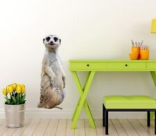 LARGE MEERKAT WALL STICKER PHOTO REALISTIC ANIMAL WALL DECAL WSD217