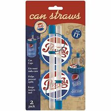 Jokari Pepsi Heritage Soda Straw / Pop / Beverage Can Caps - 2pk