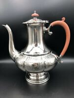 "Vintage Beautiful Reproduction Old Sheffield Plate England Teapot, 10 1/2"" Tall"