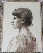 DOUGLASS PARSHALL Original Portrait of Woman Pencil on Paper Double Sided Signed